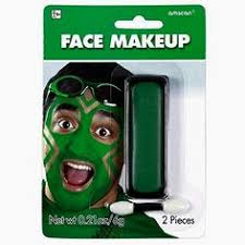 party perfect team spirit cream face makeup accessory green non toxic 21ounces now 4 38 go ahead and get creative this green face paint makeup
