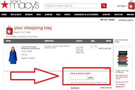 macy s promo code box for s