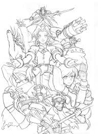 Coloring Page Final Fantasy Video Games 2 Printable Coloring