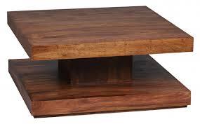 Zeitgen Ssisch Tisch Massiv 90x90 Wohnling Couchtisch Holz