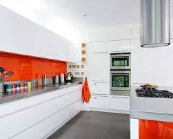 Orange And White Kitchen Kitchen Bright Colored Kitchen Backsplash Ideas Beautiful