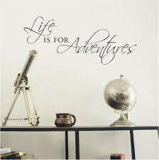 Wall Sticker Quotes Fascinating Life Is For Adventures Wall Sticker Inspirational Quote Fixate