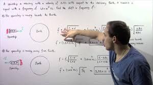 Doppler Effect And Light Doppler Effect Of Light Example