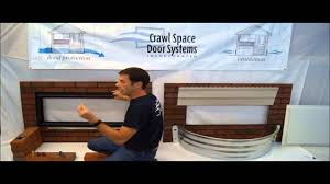 Decorating crawl space door images : Crawl Space Door Systems, Inc. - Brick Well Install - YouTube