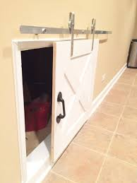 Decorating crawl space door images : DIY Crawl Space Barn Door - The Cofran Home