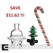2018 Quartz Spinning Carb Cap Glass Carb Cap Christmas Tree Glass Dabber Christmas Stick For Quartz Banger Nails Glass Bongs Dab Oil Rigs From