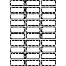 Black White Dots Small Magnetic Nameplates Labels