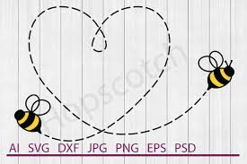 Bee Design Bahrain Flying Bee Svg Flying Bee Dxf Cuttable File Svg By