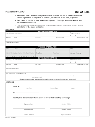 Bill Of Sale Form Alberta Vehicle Resume Pdf Download