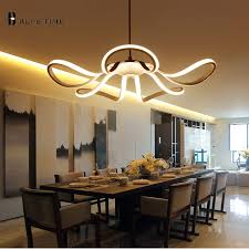 65w d55cm new modern style led pendant lights living room lounge contemporary chandeliers for living room