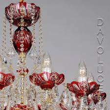 red galaxy swarovski crystal chandelier from davoluce lighting view detailed images 3