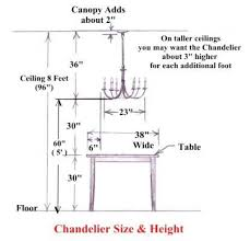 chandelier size for dining room chandelier size and height guide found best concept
