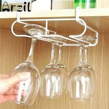 wine glass storage white metal wine racks bar champagne glasses cups storage holder rack cabinet hanging