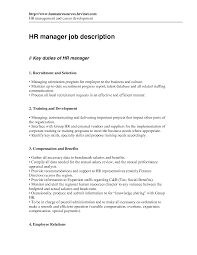 Magnificent Hr Manager Job Description Cv Photos Entry Level
