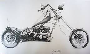 harley davidson chopper by simwar on deviantart