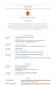 Web Gui Developer, Project Leader Resume samples