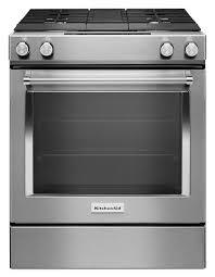 ksdg950ess kitchenaid 30 inch 4 burner dual fuel downdraft slide in range stainless steel