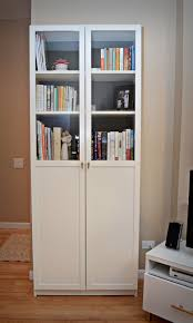 glass door bookcase white roselawnlutheran