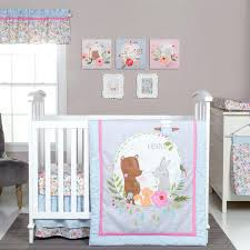 woodland friends bedding trend lab my little friends 6 piece crib bedding set