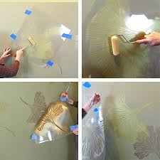 pearl wall paintHOME DZINE  Metallic or Pearl stencil design on walls