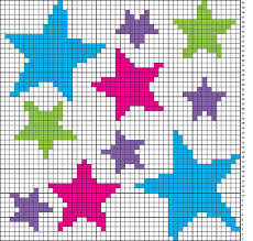 Cross Stitch Stars No Color Chart Available Just Use The