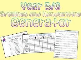 Handwriting Sheet Generator Spelling Worksheet Generator Great Year