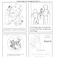 Stranger Danger Coloring Pages Printables For Preschoolers Image