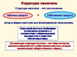 Научная электронная библиотека Базовое определение структуры капитала предприятия Оптимальная структура капитала такое сочетание долговых обязательств и собственного капитала