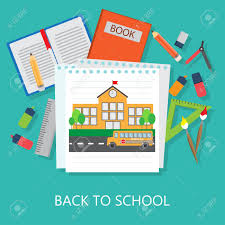 School Cover Page Design Flat Design Of Education Elements And Background Back To School