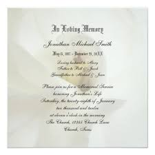 memorial service invitation memorial service invitation announcement zazzle com
