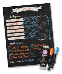 Magnetic Chalkboard Chore Chart Details About Jennakate Magnetic Chalkboard Design Child Behavior Reward Chore Chart Daily