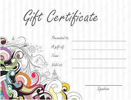 Microsoft Word Gift Certificate Templates Summer Gift Certificate Templates Gift Certificate Templates
