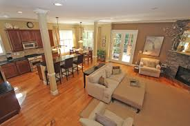 Open Floor Plan Kitchen Design Kitchen Open Floor Plan Dining Living Room Photos Fetching And