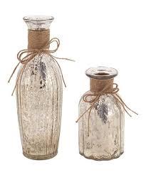 love this mercury glass vase set