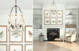whitewashed wood and metal jolette chandelier