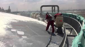 a day at the job sandblasting tankroof