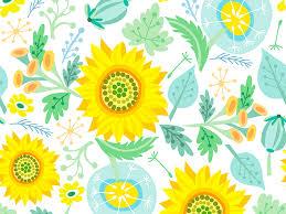 Sunflower Pattern Adorable Sunflower Pattern By Marusha Dribbble