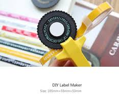 diy label maker tape writer office gift label adhesive tagging sbooking marker embosser
