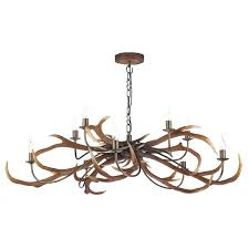 david hunt sta2329 stag 10 light pendant no shades