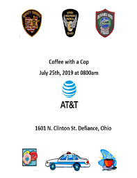 Coffee With A Cop Flyer Coffee With A Cop Visit Defiance Ohio