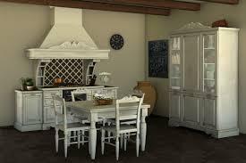 Cucina shabby chic con stelle e scritte sulle pareti. cucina della
