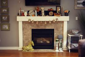 Easy Thanksgiving Fireplace Mantel In Modern Home Idea Feature Autumn Mantel  Banner And Inexpensive