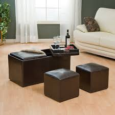 Coffee Table Ottoman Hartley Coffee Table Storage Ottoman With Tray Side Ottomans