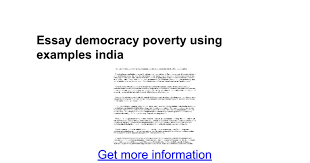 essay democracy poverty using examples google docs