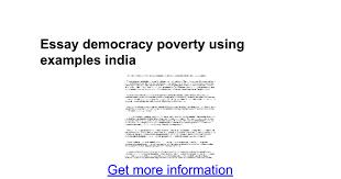 essay democracy poverty using examples google docs
