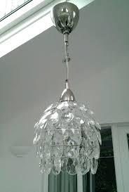 glass drops chandelier light shade ikea pendant