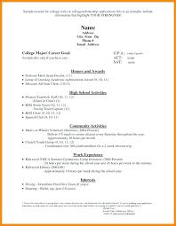Student Cv Template No Experience High School Student Resume Template No Experience Examples Best