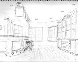 interior design drawings perspective. Brilliant Design INTERIOR DESIGN Drawn Furniture Kitchen Interior Perspective Drawing On Interior Design Drawings R