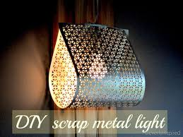diy metal light cleverlyinspired 9