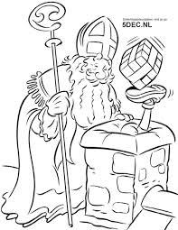 Sinterklaas Knutselen Sinterklaas Kleurplaten Zwarte Piet In